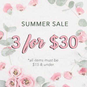 Summer Sale Clearance